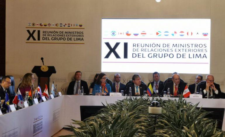 Inició la reunión del Grupo de Lima en Bogotá