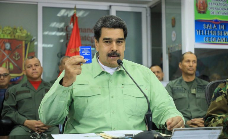 Maduro aseguró que Trump se escuda en la ayuda humanitaria para invadir el país