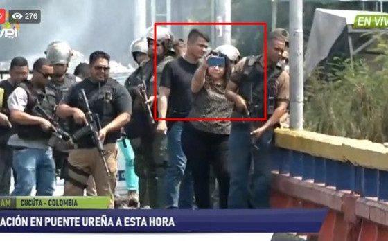 Iris Varela estuvo en el puente Francisco de Paula rodeada de presos con armas largas