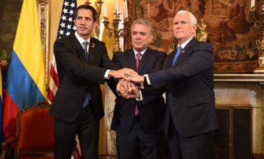 """""""EEUU está contigo 100%"""": eso dijo Pence a Guaidó durante reunión en Bogotá"""