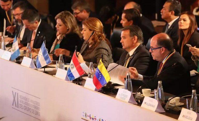 Grupo de Lima: transición en Venezuela debe ser conducida sin uso de la fuerza (+declaración)