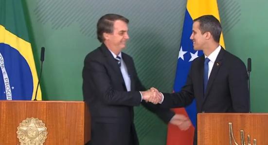 Guaidó y Bolsonaro estrecharon lazos durante reunión bilateral en Brasil