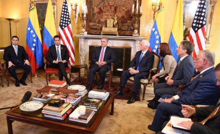 """Guaidó solicitó al Grupo de Lima avanzar en la """"presión necesaria"""" contra Maduro"""