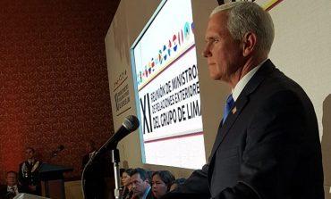 Pence instó al Grupo de Lima a imponer sanciones contra Maduro y su régimen