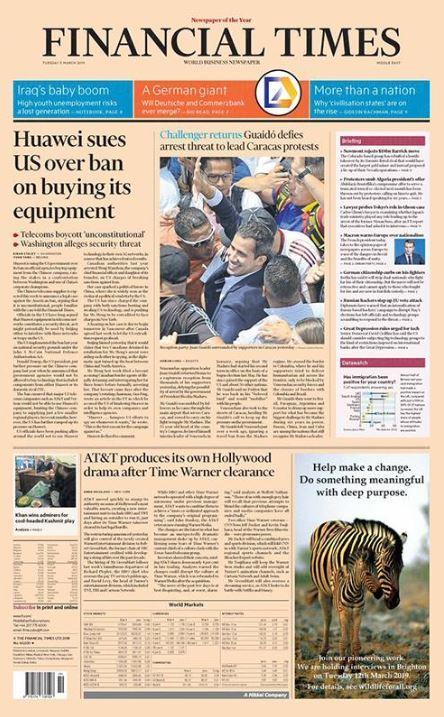 Financial Times es un periódico de origen británico.