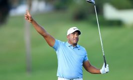 Venezolano jugador profesional de golf demostró su apoyo a Guaidó