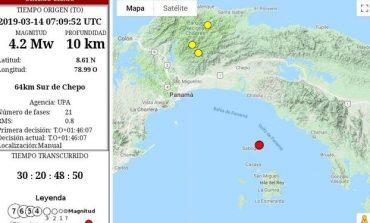 Sismo de 4.2 se registró en Panamá