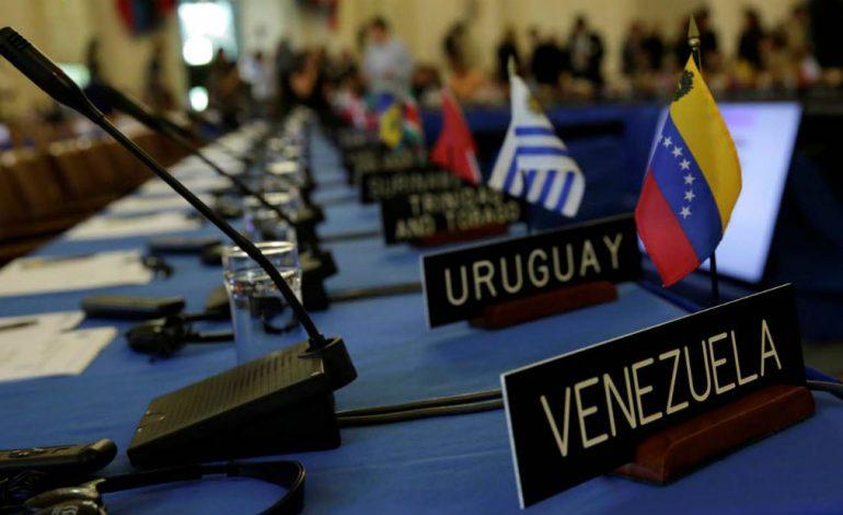 ¿Y dónde está? Desapareció el cartel de Venezuela en la OEA