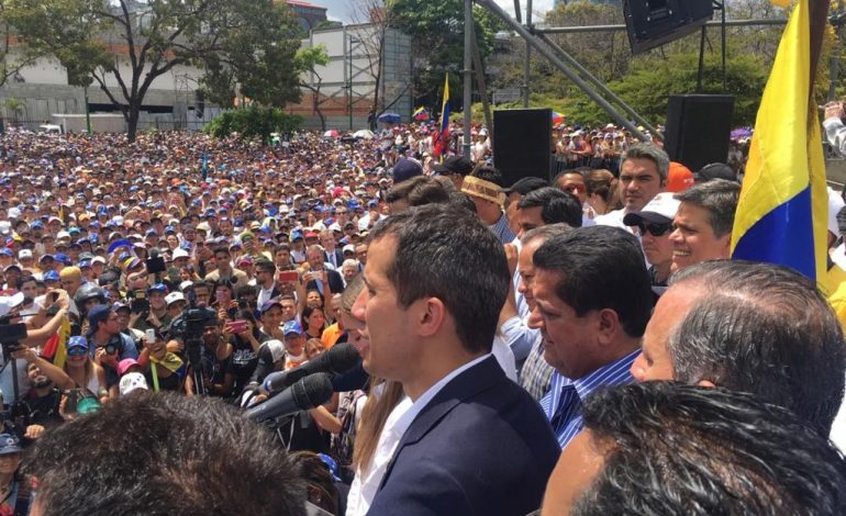 Guaidó en Caracas: es evidente que luego de las amenazas, alguien no cumplió