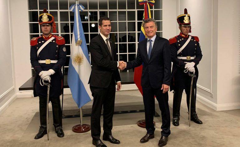 Guaidó se reunió con Macri en Argentina para afianzar el apoyo internacional