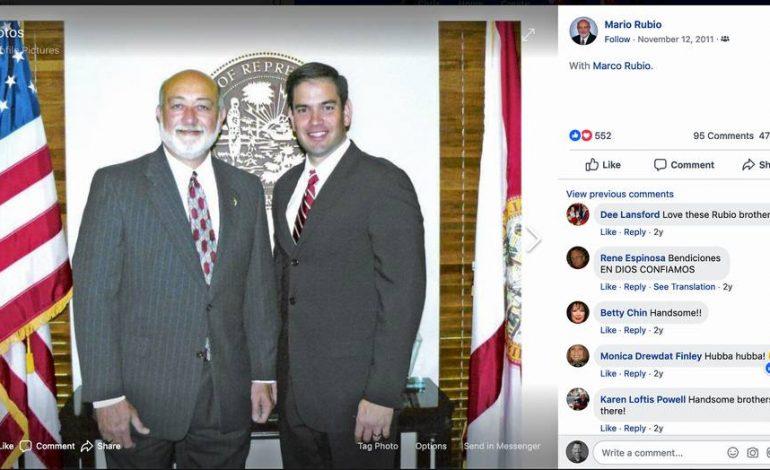 Hermano mayor de Marco Rubio es contratado con un sueldo de $115 mil en el gobierno estatal