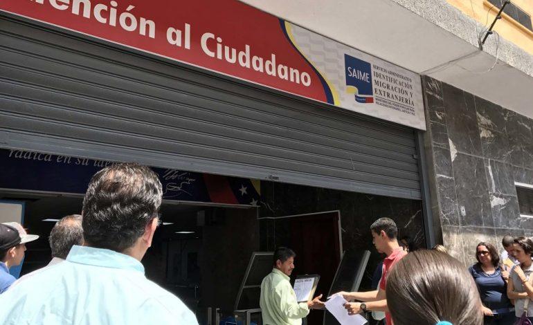 """Saime iniciará jornada de cedulación """"pre-electoral"""" a partir de este lunes"""