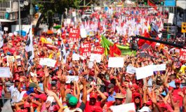 Chavismo marchó en rechazo a los ataques de Trump contra el madurismo