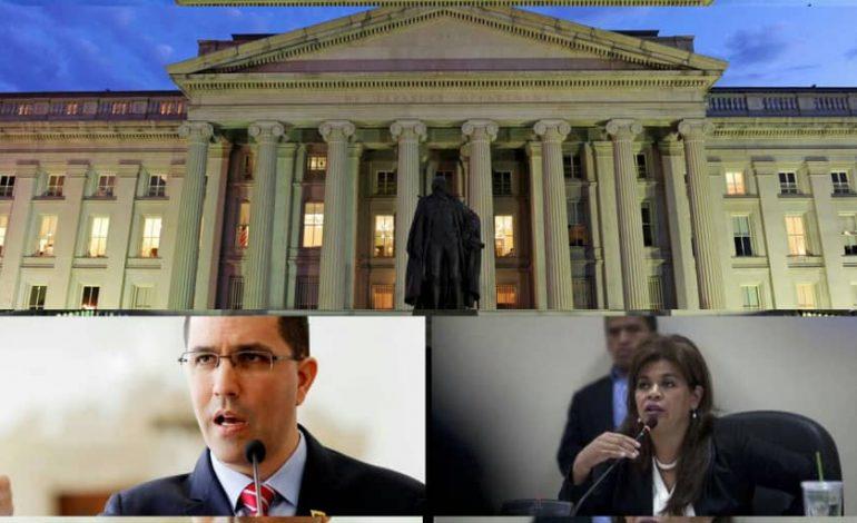 Departamento del Tesoro de EEUU sancionó al canciller del régimen Jorge Arreaza y a la jueza Padilla