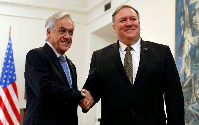 Pompeo se reunió con Piñera y el tema de Venezuela estuvo en la agenda