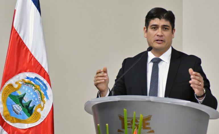 Presidente de Costa Rica destacó que la vía militar no debe ser una opción para Venezuela y Nicaragua
