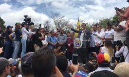 Así transcurrió la marcha convocada por Guaidó este sábado
