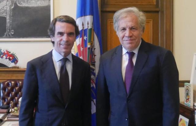 Almagro y Aznar sostuvieron reunión sobre la situación de Venezuela