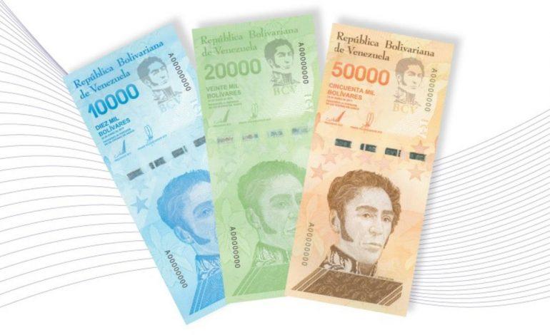 Régimen de Maduro incorpora tres nuevos billetes al cono monetario