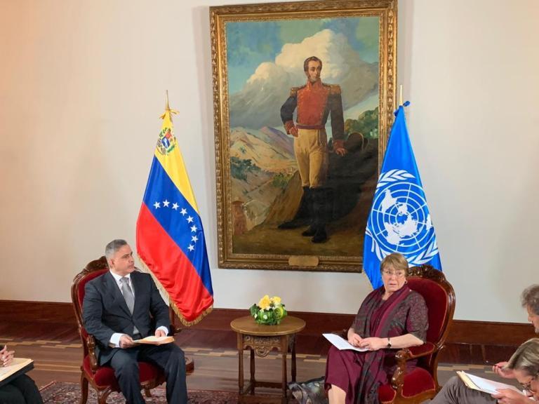 Tareck Williams Saab se reunió con Bachelet (Foto: La Patilla)