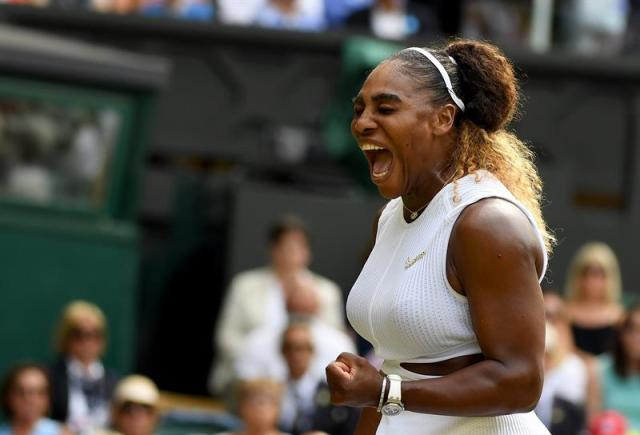 La estadounidense Serena Williams disputará la final de Wimbledon contra Halep