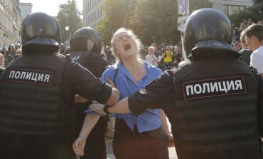 Protesta en Moscú terminó con mil 400 detenidos, la cifra más alta en 10 años