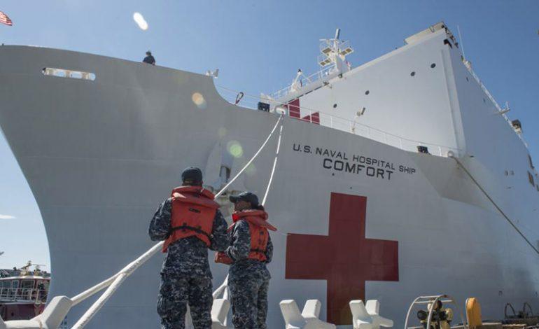Buque USNS Comfort inicia asistencia humanitaria desde Santa Marta Colombia