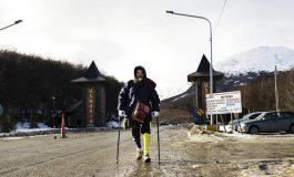 Venezolano sin una pierna caminó desde San Cristóbal hasta la punta de Sudamérica