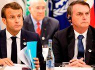 """Macron acusó a Bolsonaro de """"mentir"""" en sus compromisos  medioambientales"""