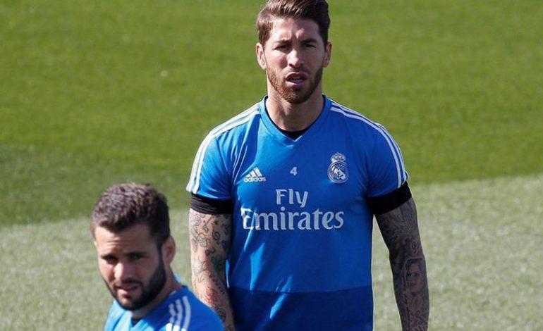 Sergio Ramos participó en el primer entrenamiento de la semana