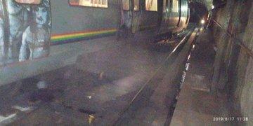 Tren del Metro de Caracas se descarriló sin dejar heridos graves