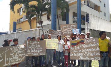 """""""Justicia por los asesinados en la Navas Spínola"""": la exigencia a Saab en Carabobo"""