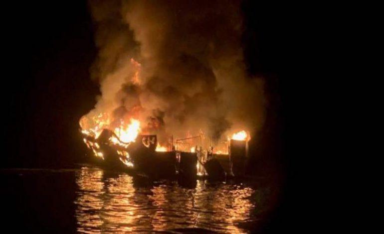 Incendio de un barco de buceo dejó al menos 20 muertos y 14 desaparecidos  en California
