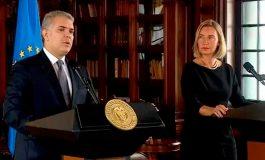 Duque y Mogherini coinciden en ampliar ayuda a migrantes venezolanos