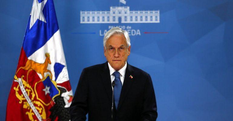 """Presidente de Chile anunció que buscará un """"acuerdo social"""" con partidos del Gobierno y opositores"""