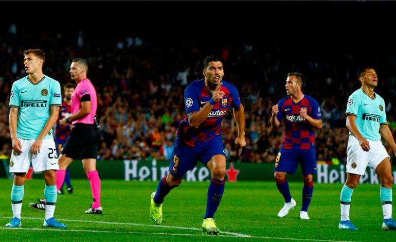 Con doblete de Luis Suárez, Barcelona derrota al Inter de Milán en Camp Nou