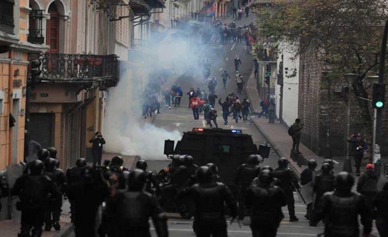 Decenas de venezolanos fueron detenidos en las protestas de Ecuador