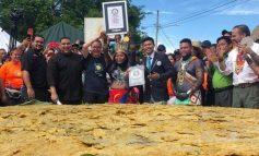 En Panamá prepararon patacón de 111,4 kilos y más de 3 metros de diámetro