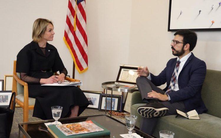 Pizarro coordina acciones junto a la embajadora de Estados Unidos ante la ONU