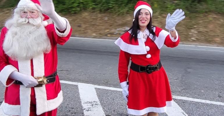 El Santa de la Cota Mil en Caracas le dio la bienvenida a la Navidad