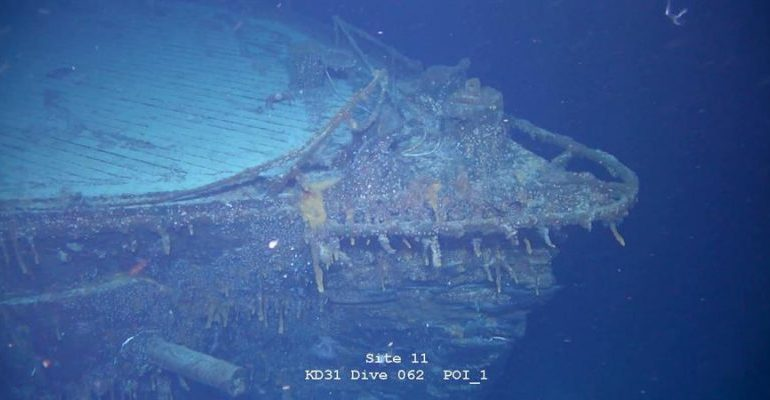 Encuentran un buque alemán de la I Guerra Mundial hundido frente a las Malvinas