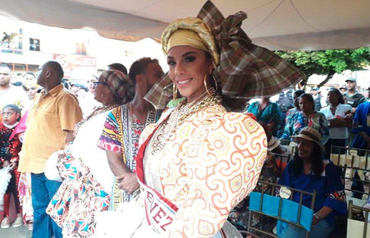 Isabella Rodríguez presentó su traje típico en el Miss Mundo