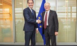 Juan Guaidó se reunió con Josep Borrell y Margaritis Schinas en Bruselas