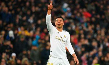 Doblete de Casemiro pone al Real Madrid primero en la tabla de La Liga