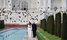 Trump y Melania viajaron al Taj Mahal antes de iniciar las reuniones de gobierno