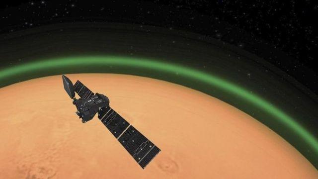 Científicos avistan fenómeno parecido a la aurora boreal en Marte
