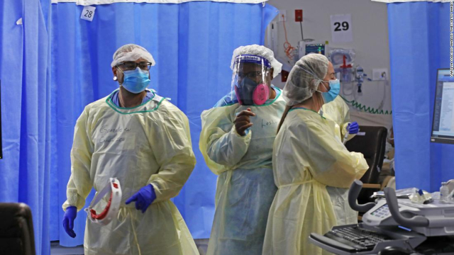 Estados Unidos registra más de mil muertes por Covid-19 durante cuatro días seguidos