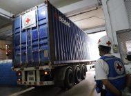 Cruz Roja es la responsable de la llegada de las 13 toneladas de ayuda humanitaria