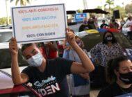 Jóvenes cubanos y venezolanos en Florida apoyan a Biden