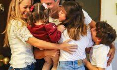 Leopoldo López se reunió con su esposa e hijos en Madrid